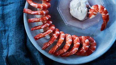 Mark Best's tiger prawns and mayonnaise