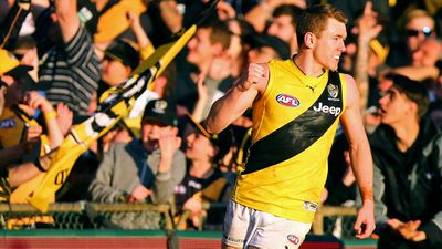 Richmond's Jacob Townsend kicks six as Tigers thrash Fremantle at Domain Stadium