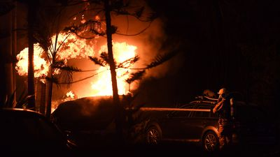 Three homes destroyed in blaze fuelled by fierce NSW winds