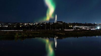 Lights go out in Reykjavik as Aurora Borealis puts on a spectacular show