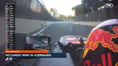 Australia's Daniel Ricciardo produces storming drive to win crazy Azerbaijan Grand Prix