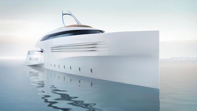 This luxury superyacht comes complete with a detachable beach house