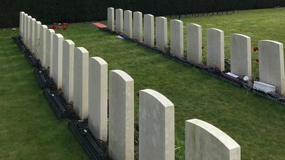 The Polygon Wood grave that reveals the toll of World War I
