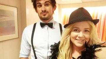 Cassie Sainsbury with her fiance Scotty Broadbridge. (Facebook)