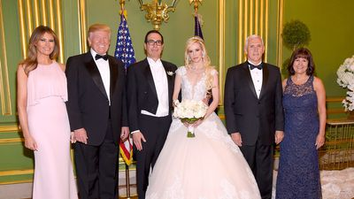 Melania and Donald Trump attend lavish Washington wedding