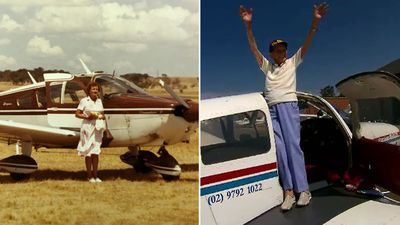 Trailblazing pilot celebrates 100th birthday with joy flight