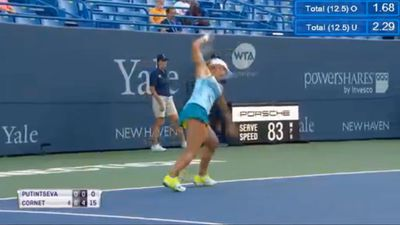 Tennis player Yulia Putintseva has epic meltdown at Connecticut Open