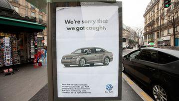 Brandalism takes aim at German car manufacturer Volkswagen. (brandalism.org.uk)