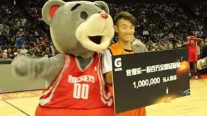 Fan wins $194,000 with half-court shot