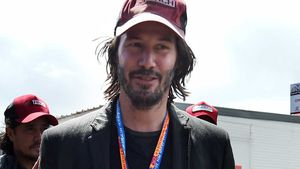 Hollywood star Reeves spotted at MotoGP