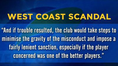 West Coast Eagles drug issues re-aired in damning AFL report