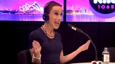 Kathy Griffin says she wants to challenge Samantha Armytage to a 'cage match'