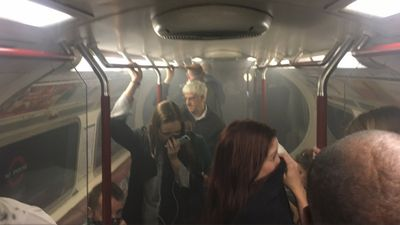 Passengers panic as London tube fills with smoke