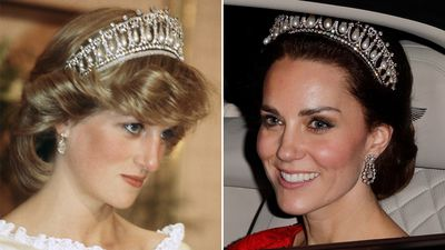 Kate Middleton wears Diana's tiara