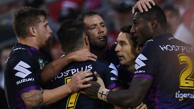 Melbourne Storm smash St George Illawarra Dragons to kick clear in NRL