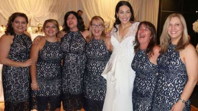 A fashion disaster! Six women wear same dress to friend's wedding