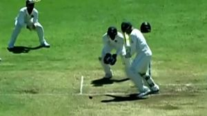 Worst ball of the day almost snags a wicket