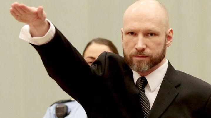 Norwegian mass murderer Anders Breivik. (AAP)