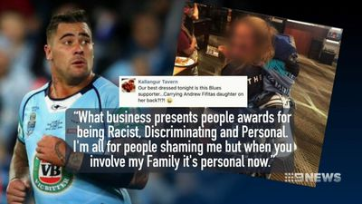Cronulla Sharks and NSW Blues prop Andrew Fifita enraged by social media post which mentioned his daughter