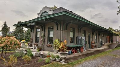 All aboard! Converted train station for sale