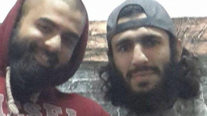 Suhan Rahman with Australian extremist Mohamed Elomar. (Facebook)
