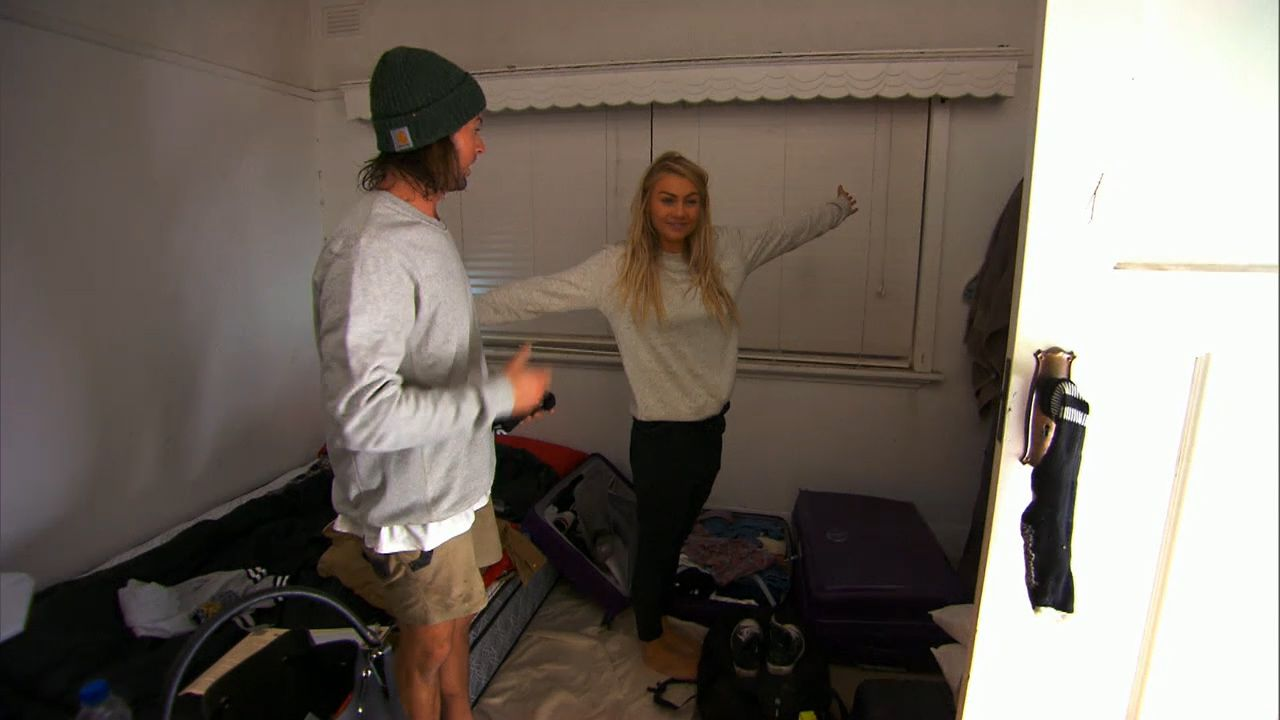 Josh and Elyse wake up 'fresh as a daisy' after their first night on The Block