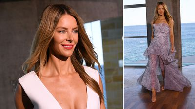Bright and breezy Jennifer Hawkins braves outdoor fashion launch