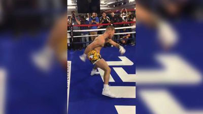 Conor McGregor responds to viral challenge mocking his unique boxing warm up ahead of Floyd Mayweather bout