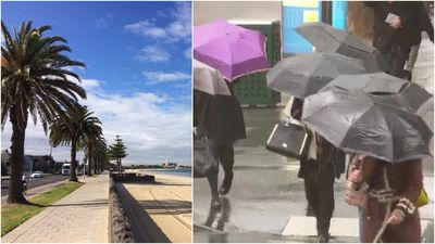 What a difference a few hours makes for Melbourne's weather