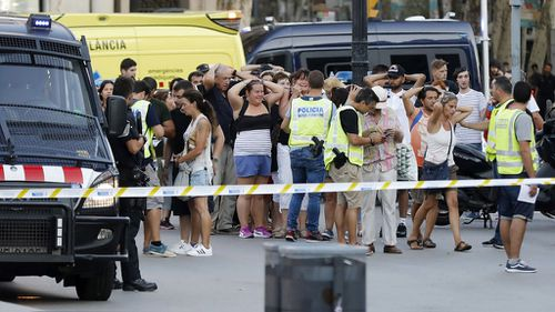 The aftermath of the Barcelona terror attack in August.