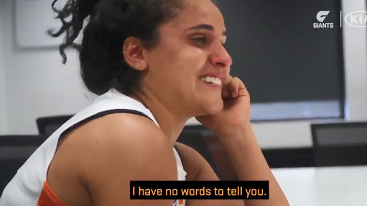 GWS Giants teenager Haneen Zreika to make AFLW history with debut