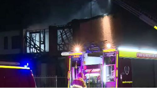 The cause of the blaze is being investigated. (9NEWS)