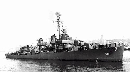 Of the 341 crew on board the USS Johnston DD-557 vessel, only 141 survived.