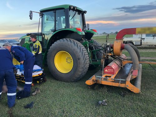 Man's leg amputated whilst using industrial mower in NSW