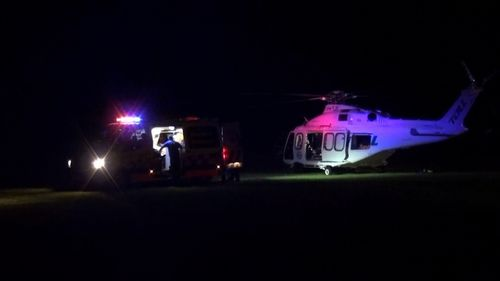 The 14-year-old boy was airlifted to The Children's Hospital at Westmead where he is in a serious but stable condition.