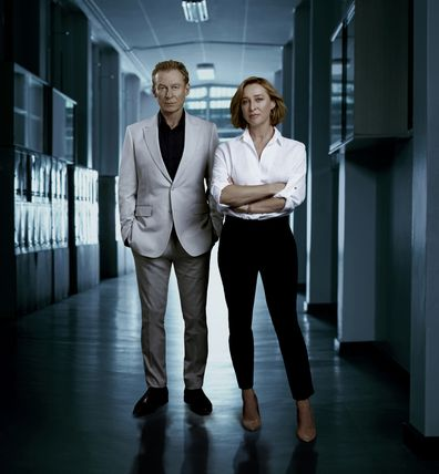 Asher Keddie and Richard Roxburgh in The Hunting
