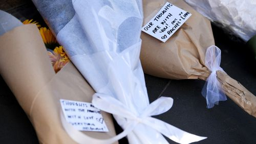 """Our thoughts are with you,"" one card read. (AAP)"
