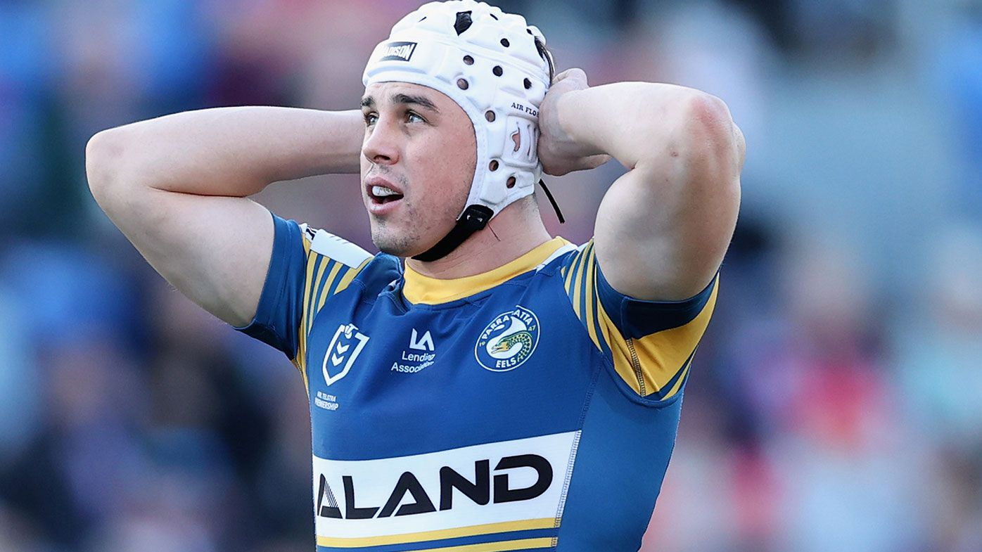 Reed Mahoney of the Eels during the round 13 NRL match between the Newcastle Knights and the Parramatta Eels at McDonald Jones Stadium, on June 06, 2021, in Newcastle, Australia. (Photo by Ashley Feder/Getty Images)