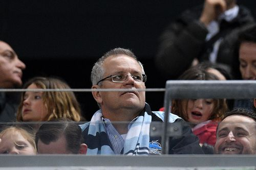 The Prime Minister saw his beloved Cronulla Sharks eliminated from the NRL finals in Sydney on Saturday night.