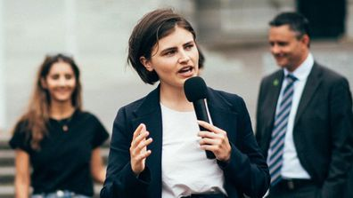 Chloe Swarbrick is a 25-year-old member of New Zealand Parliament.