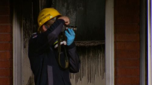 Fire investigators are trying to determine how the blaze started.