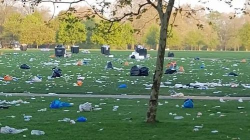 Photo claiming to show climate strike rubbish revealed as hoax