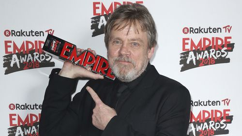 Mark Hamill wins Icon Award at the Empire Film Awards in London (AAP)