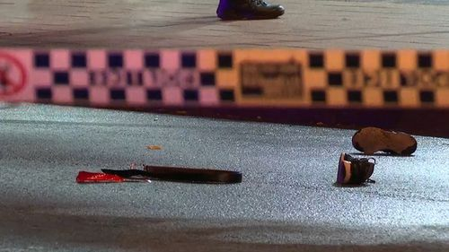 Officers from the Inner West Police Area Command established a crime scene at the bus stop.
