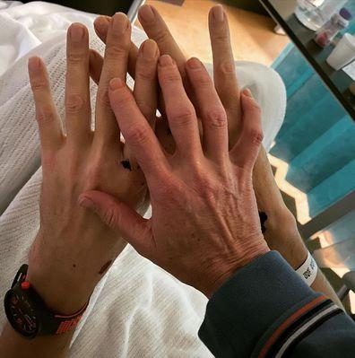 Hilde Hinton shares photo Sam Johnson hospital