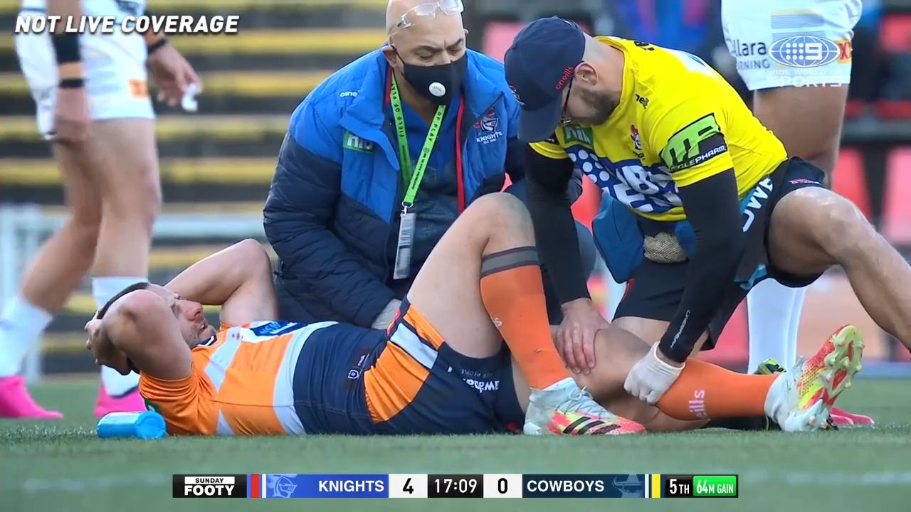 Knights coach Adam O'Brien emotional as Andrew Johns doubts Blake Green will go on
