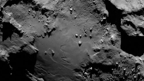 Surface of comet revealed by Rosetta spacecraft