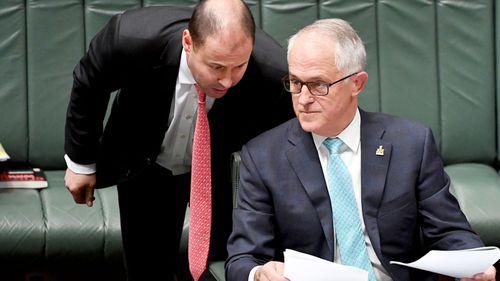 Josh Frydenberg and Prime Minister Malcolm Turnbull. (AAP)