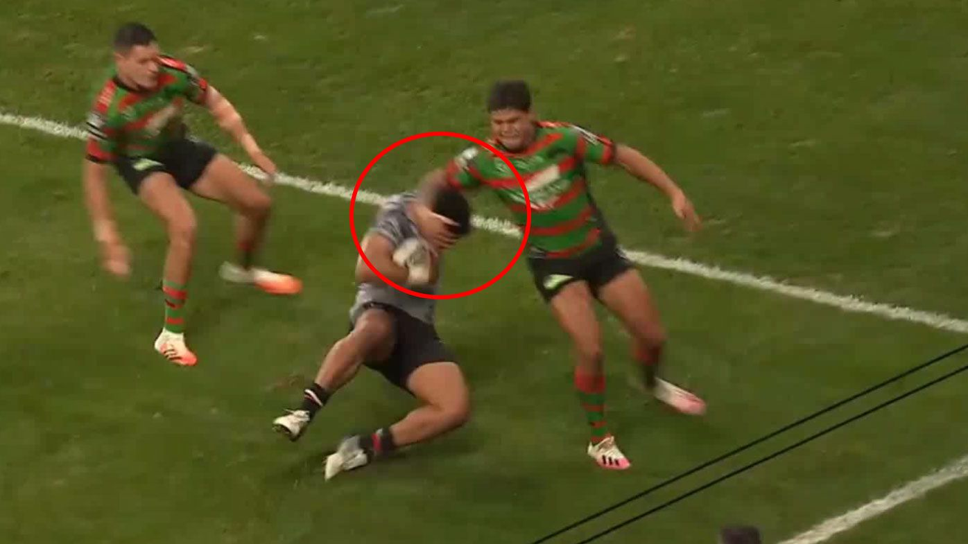 Latrell Mitchell cops backlash over apparent try-saving high shot on David Fusitu'a
