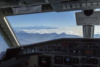 Flying over the Himalayas, India/Nepal
